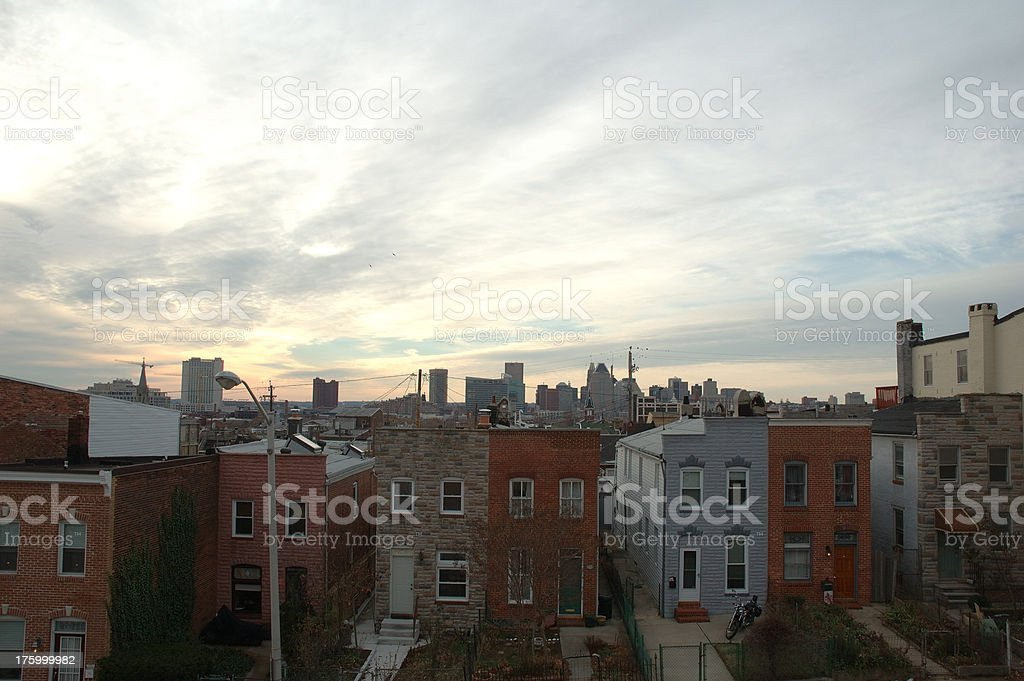 View From East Baltimore stock photo