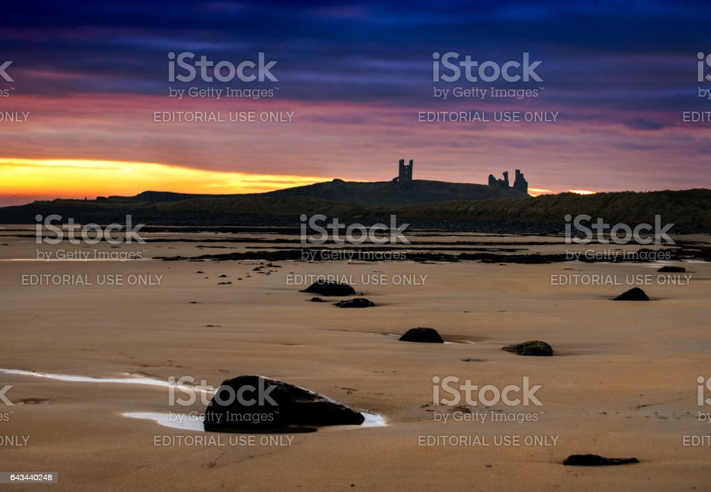 View from Embleton sands. stock photo
