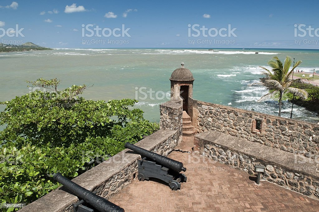 View from Fort San Felipe stock photo