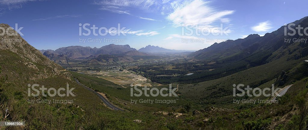 View from Franshhoek pass royalty-free stock photo