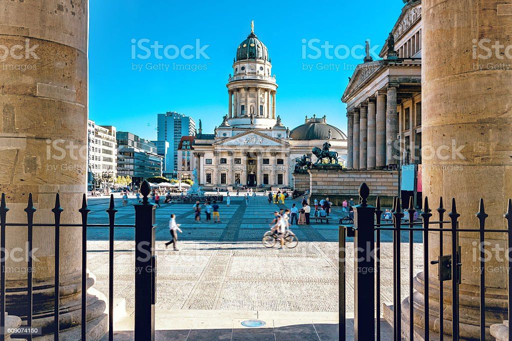 view from French Dome on Berlin Gendarmenmarkt stock photo