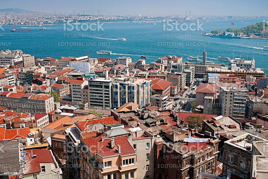 Vue de la Tour de Galata dans Istanbu, en Turquie. photo libre de droits