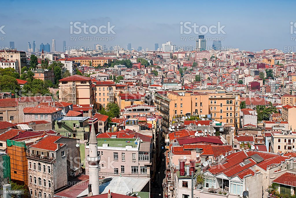 Vue de la Tour de Galata à Istanbul, Turquie. photo libre de droits