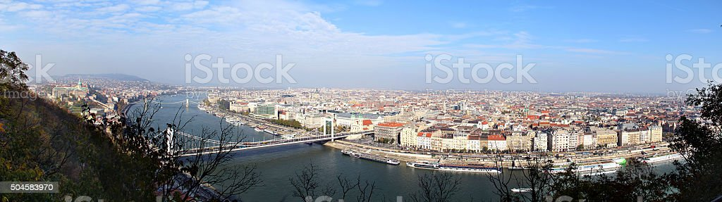 View from Gellért Hill in Budapest stock photo
