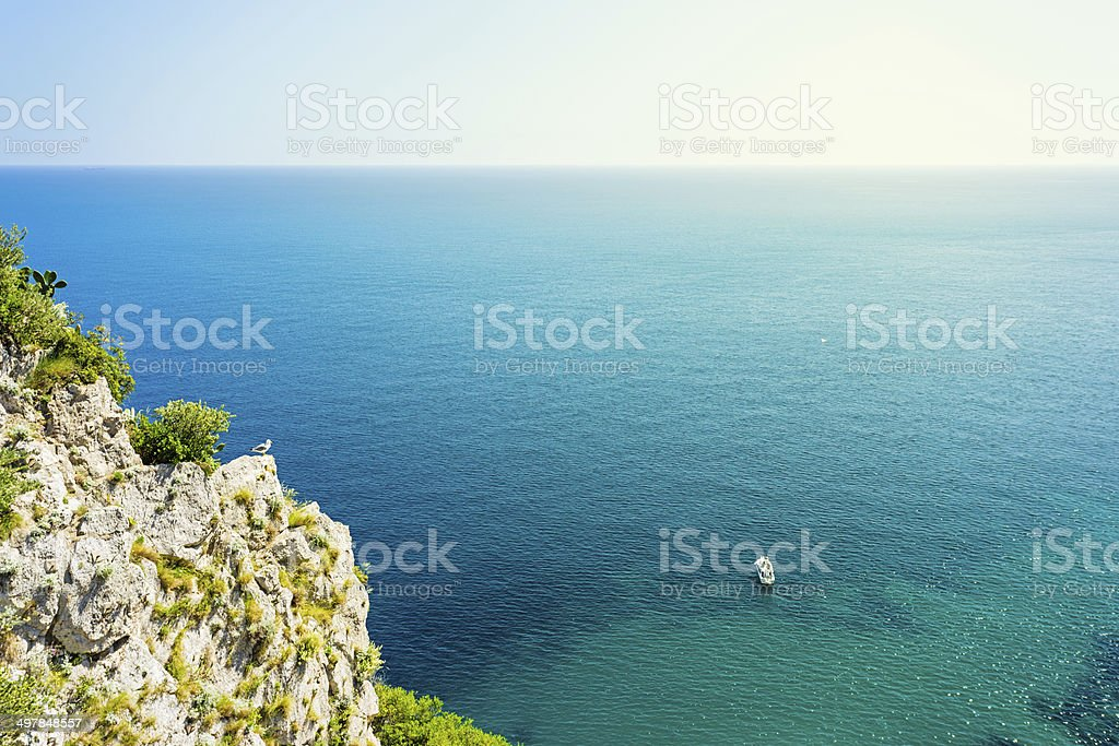 View from Giardini di Augusto, Capri royalty-free stock photo