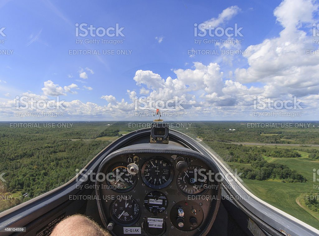 View from Glider stock photo
