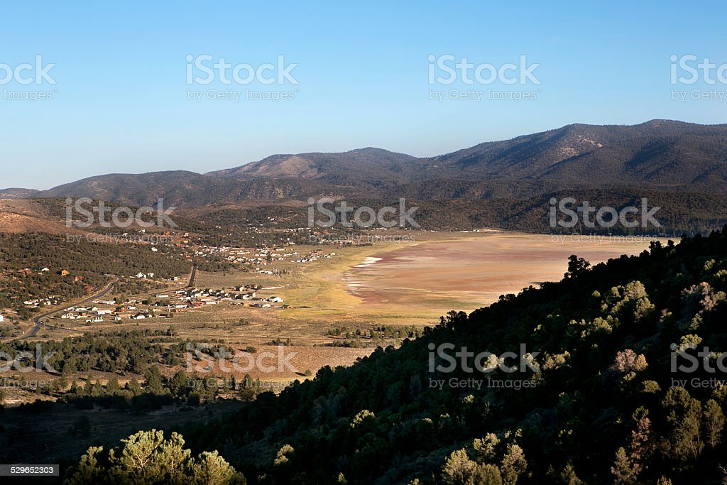 View from Gold Mountain, California stock photo