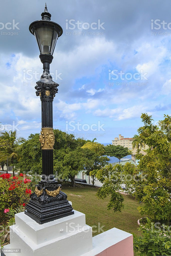 View from Government House in Nassau royalty-free stock photo