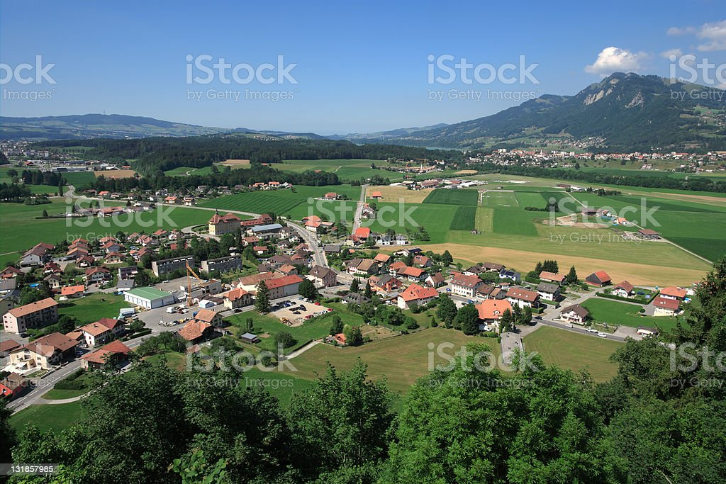 View from Gruyeres castle royalty-free stock photo