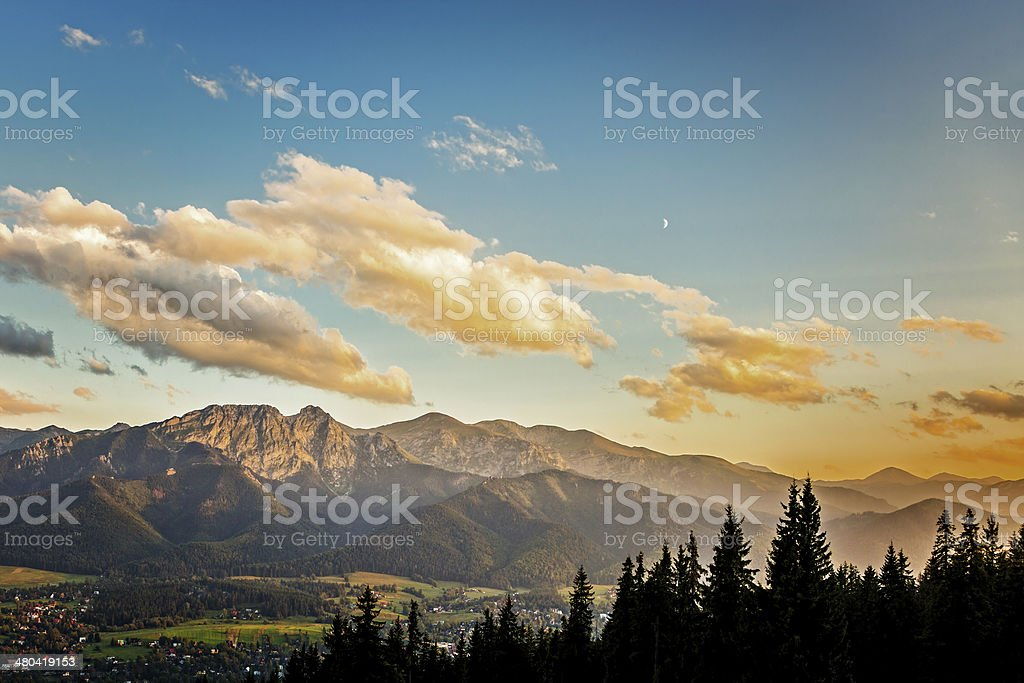 View from Gubalowka stock photo