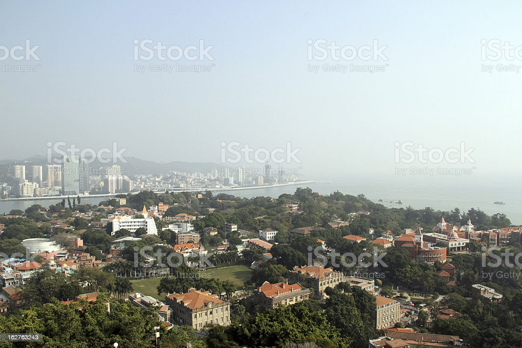 Vista di Gulangyu foto stock royalty-free