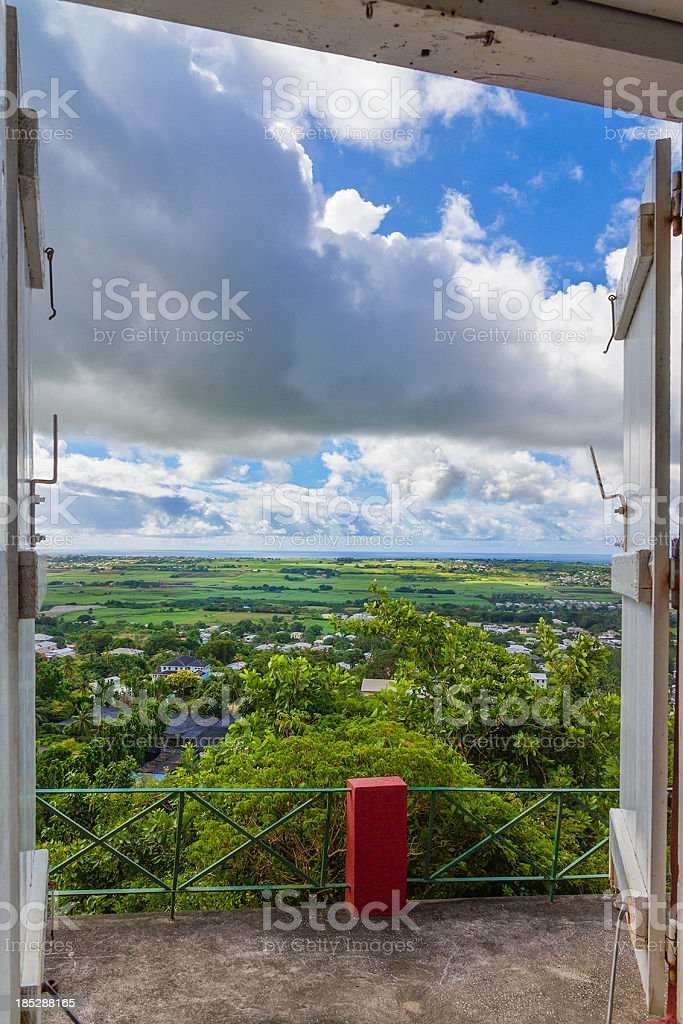'View from Gun Hill Signal Station, Barbados' stock photo