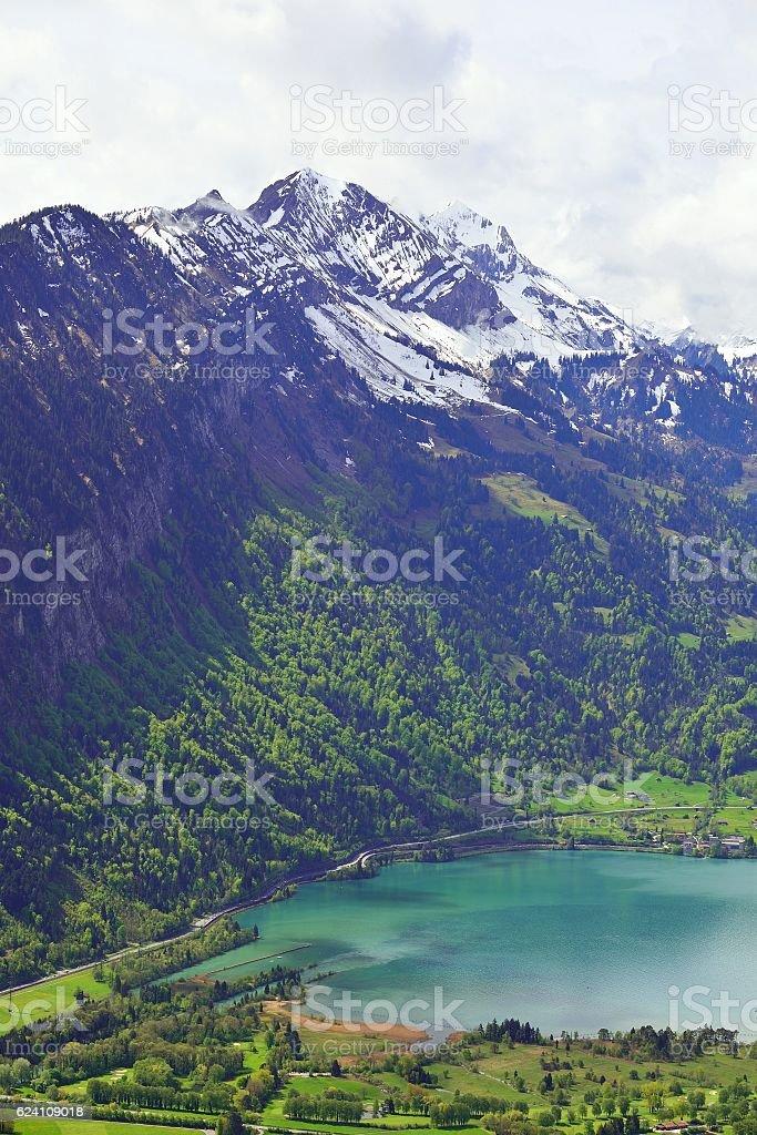 View from Harder Kulm, Interlaken, Switzerland stock photo