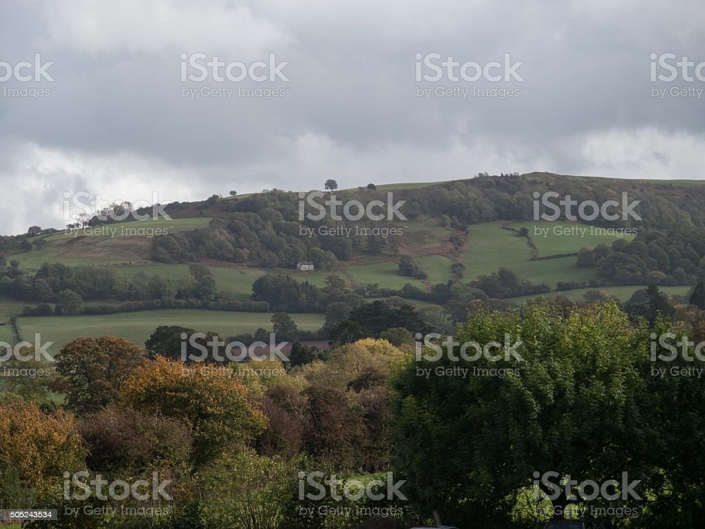 View from Hay-on-Wye stock photo