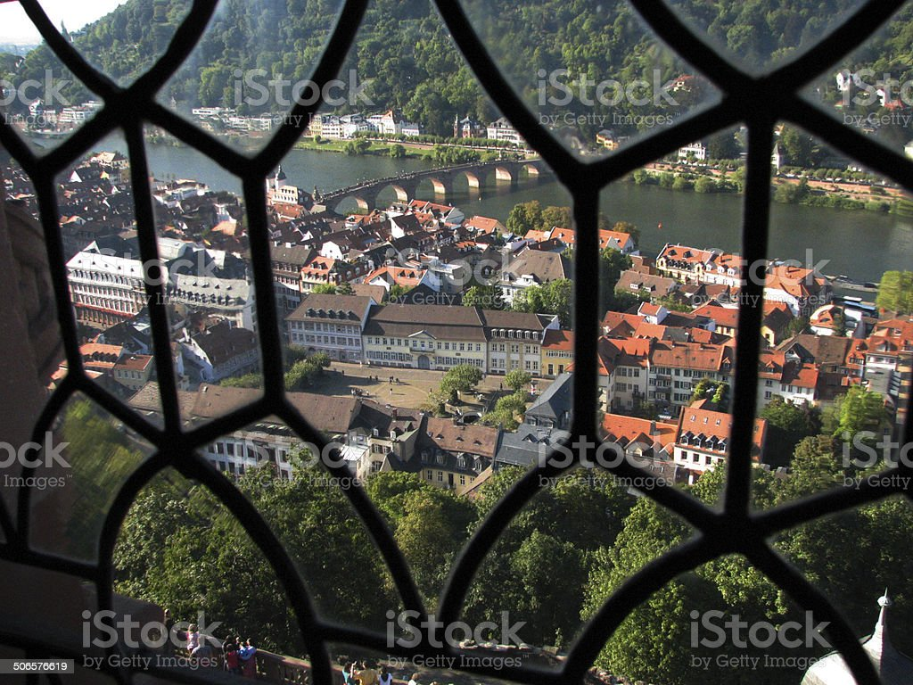 View from Heidelberg Castle - Heidelberg, Germany stock photo