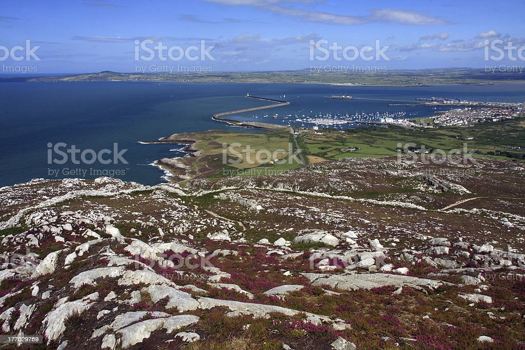 View from Holyhead Mountain stock photo