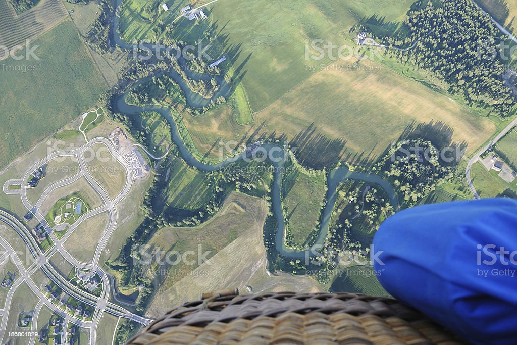 View From Hot Air Balloon royalty-free stock photo