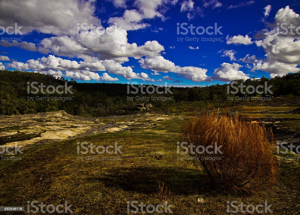 View from Hovea Falls, Perth, Western Australia stock photo