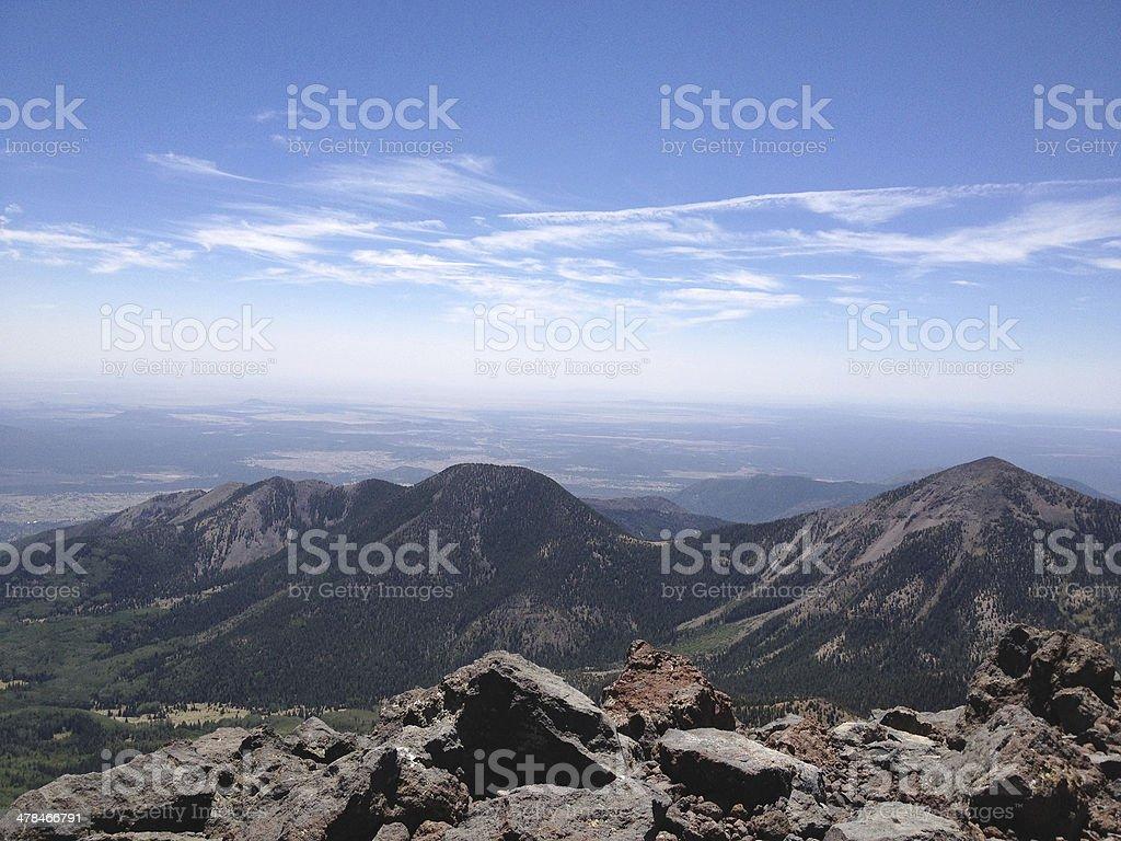 View from Humphreys Peak, Arizona, USA stock photo