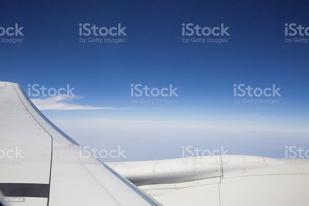 View from illuminator of the aircraft. royalty-free stock photo