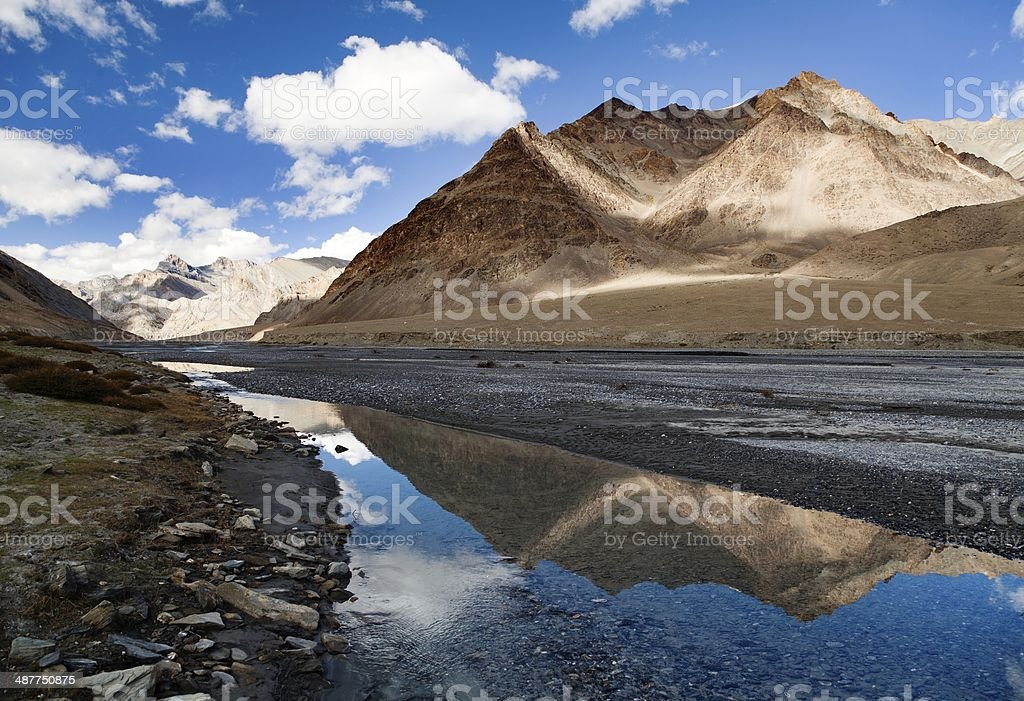 view from Indian himalayas stock photo