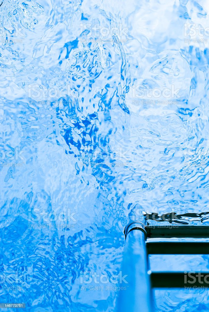 view from inside of swimming pool royalty-free stock photo