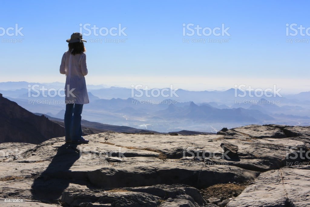 View from Jebel Shams, Oman stock photo
