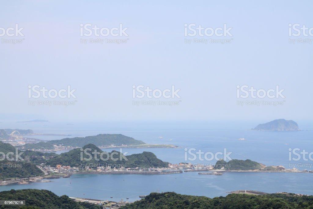 view from Jiufen, Taipei, Taiwan stock photo