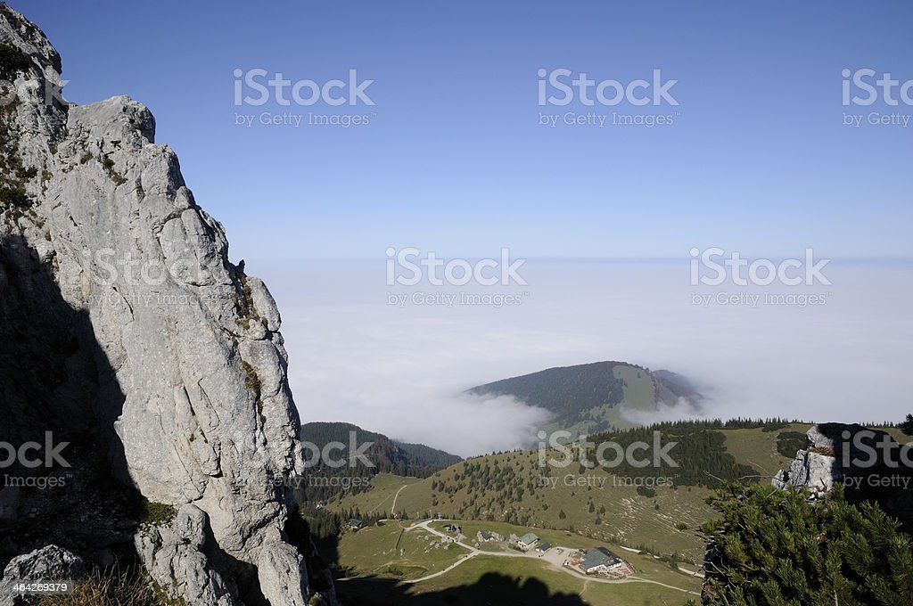 View from Kampenwand, a mountain in Bavaria stock photo
