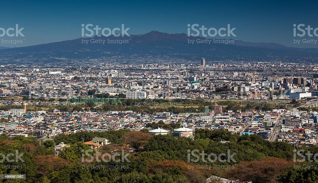 view from Kannon temple in Japan stock photo