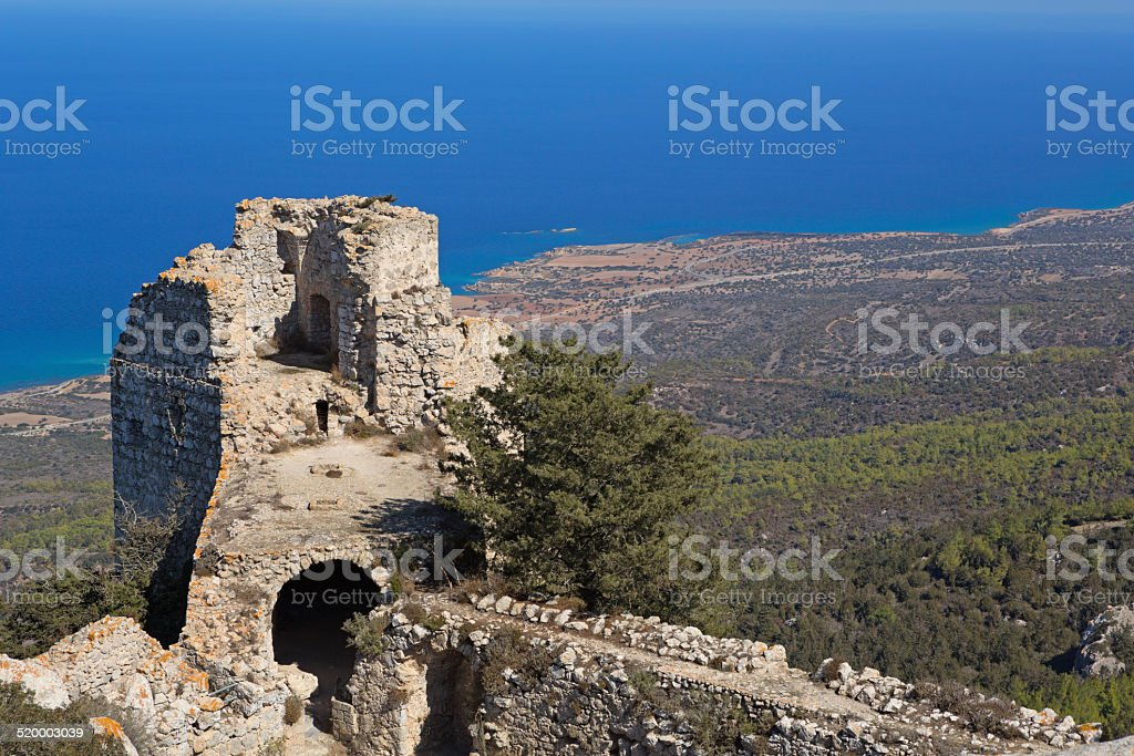 View From Kantara Castle, Cyprus stock photo