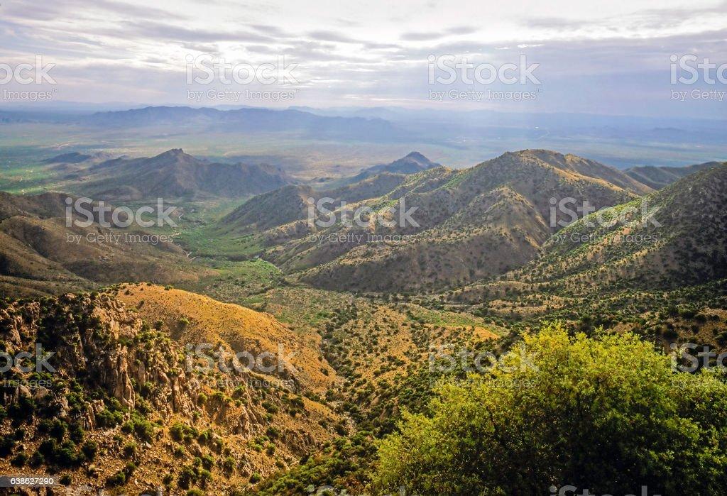 View from Kitt Peak, Arizona stock photo