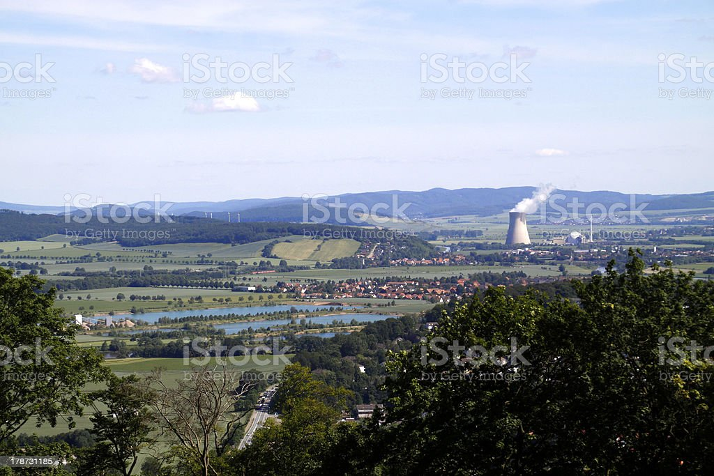 View from Kluet to Grohnde stock photo