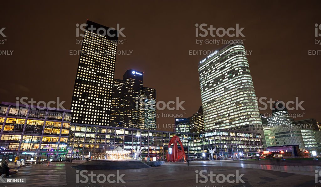View from La Defence stock photo