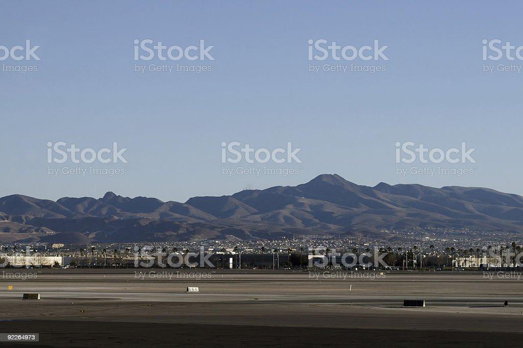 View from Las Vegas McCarran Airport stock photo