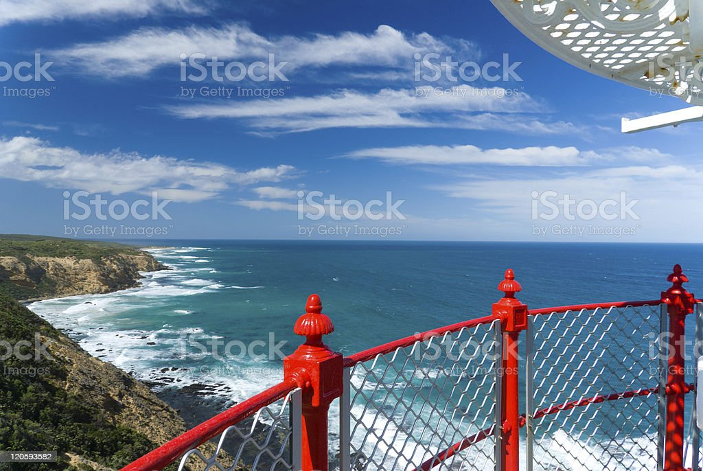 View from lighthouse stock photo