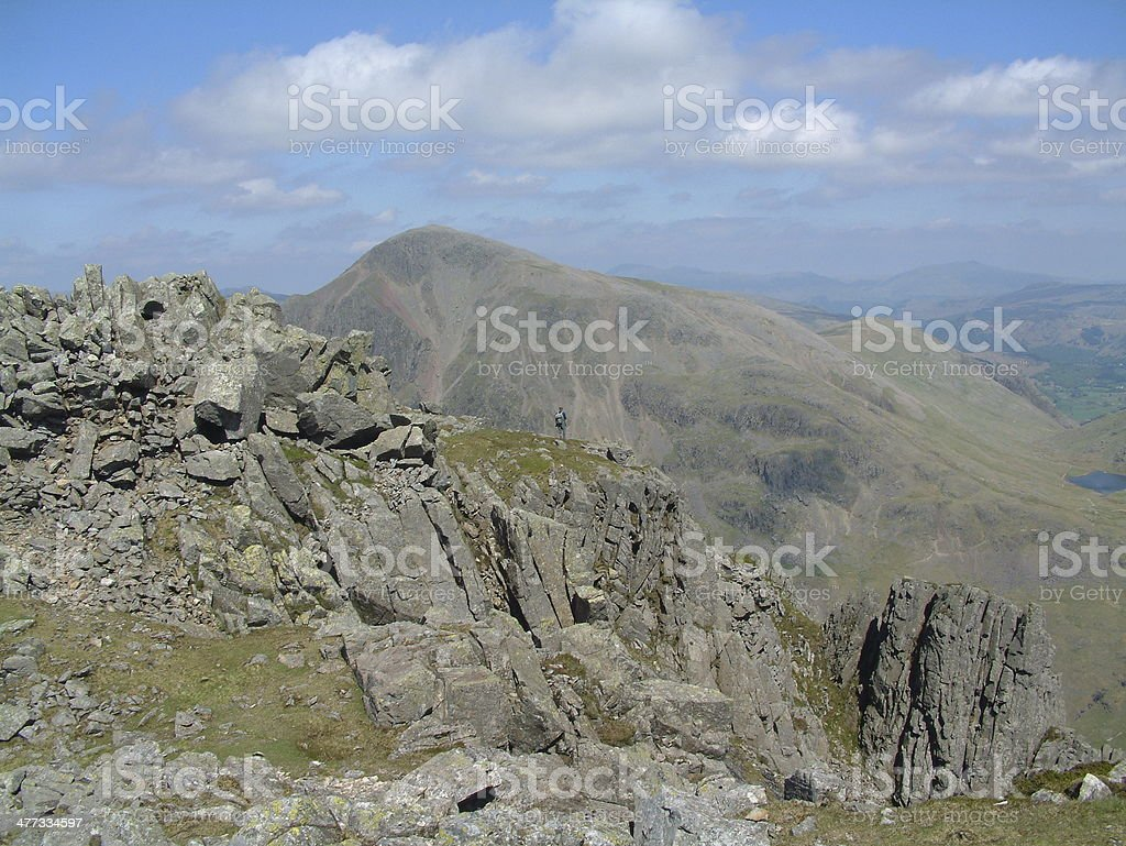 View from Lingmell Fell royalty-free stock photo