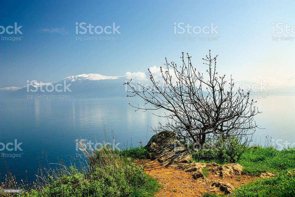View from Manerba Lake Garda stock photo