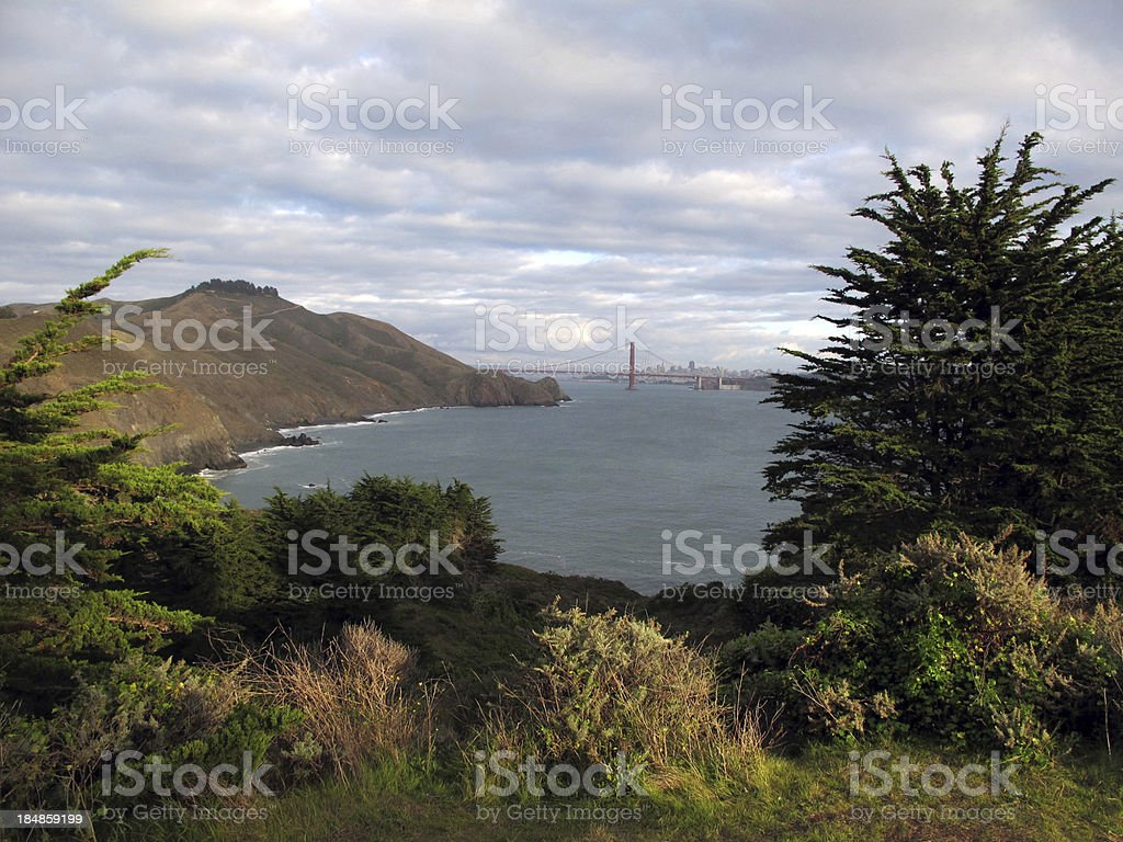 View from Marin Headlands royalty-free stock photo