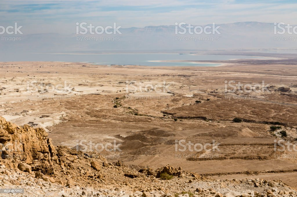 View from Masada, Israel stock photo