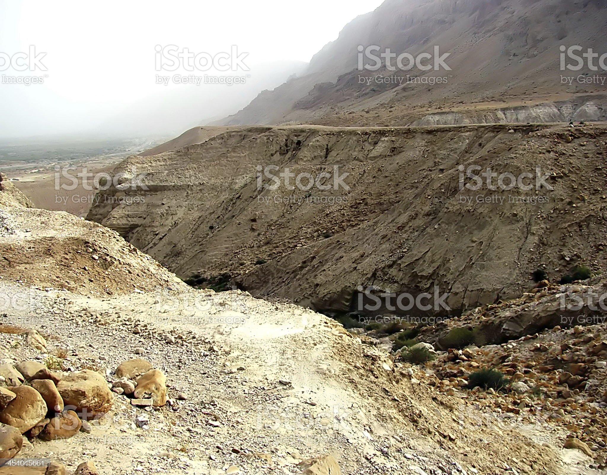 View from Masada royalty-free stock photo