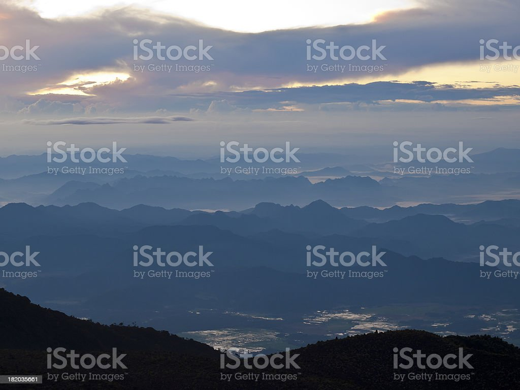 View from Merapi stock photo