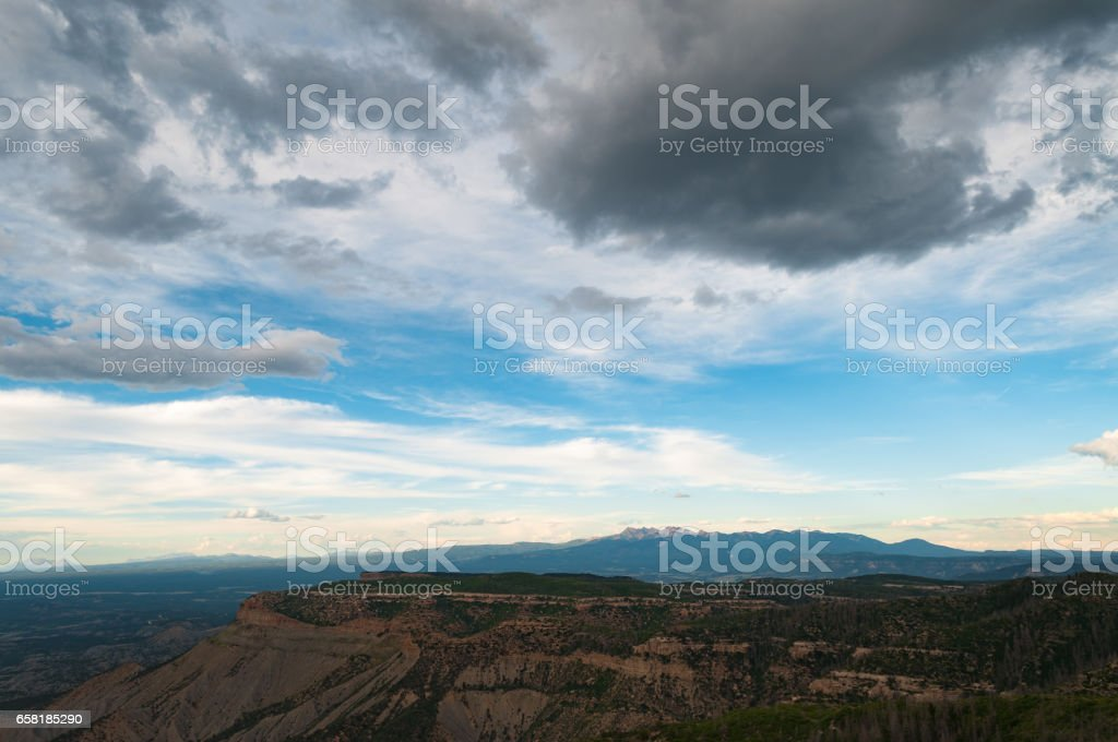 View from Mesa Verde, National Park, Colorado stock photo