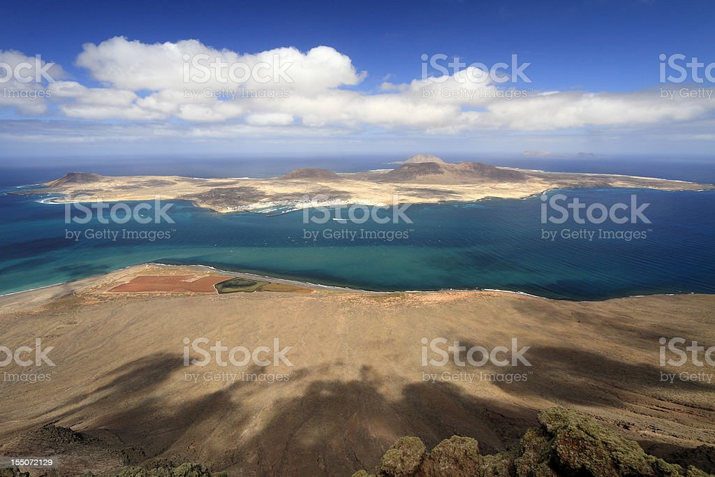 View from Mirador del Rio royalty-free stock photo