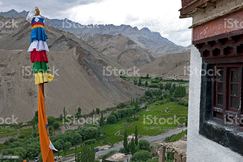 View from Monastery Likir India royalty-free stock photo