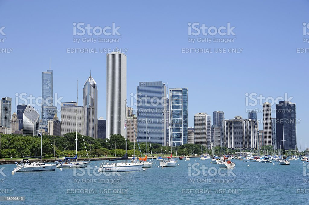 View From Monroe Harbor stock photo