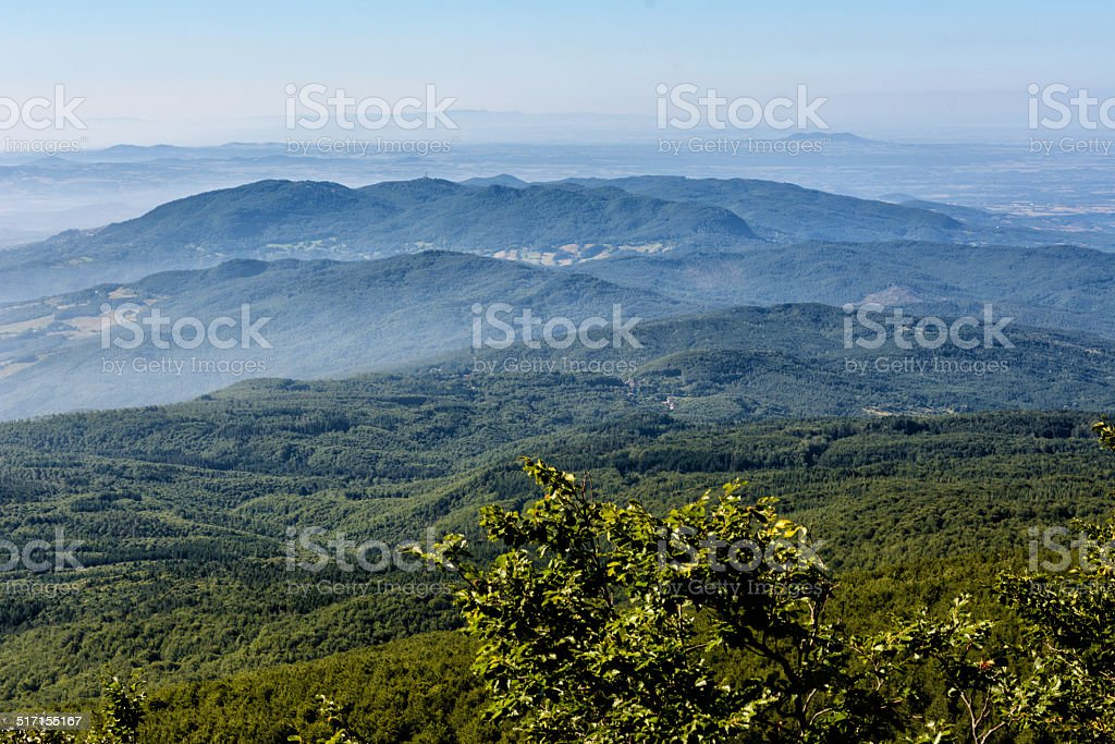 View from Monte Amiata Tuscany stock photo