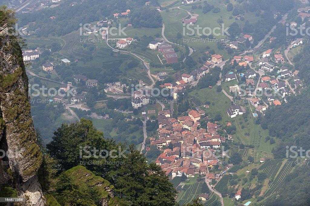 view from Monte Generoso on Rovio Ticino Switzerland royalty-free stock photo