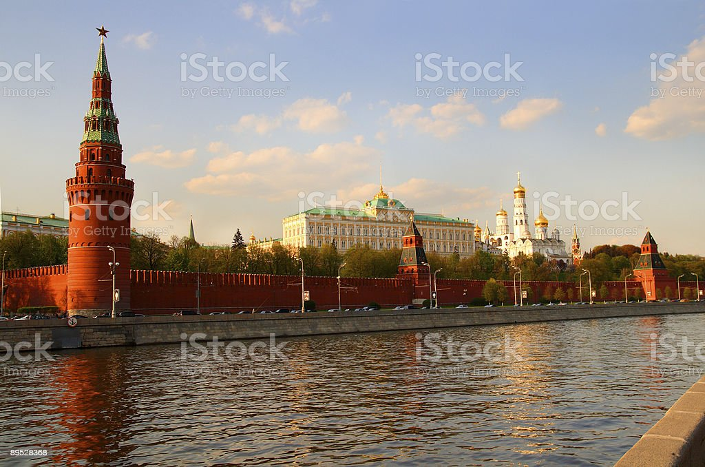 view from Moscow-river on kremlin royalty-free stock photo