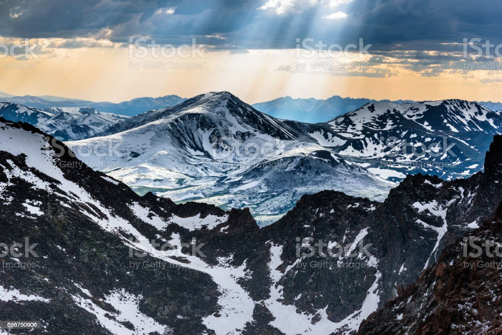 View from Mount Evans stock photo
